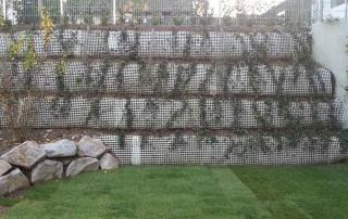 Stützmauer mit Geogitter, Stolz Bauunternehmung