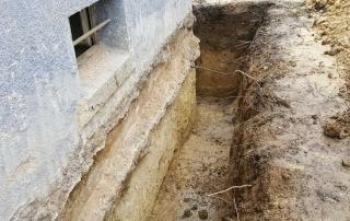 Bauwerkserhaltung, Erdarbeiten Drainage
