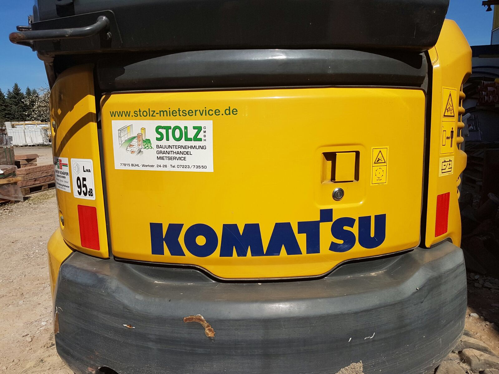 Komatsu Minibagger - Stolz GmbH Bauunternehmung Bühl/Baden- Mietservice