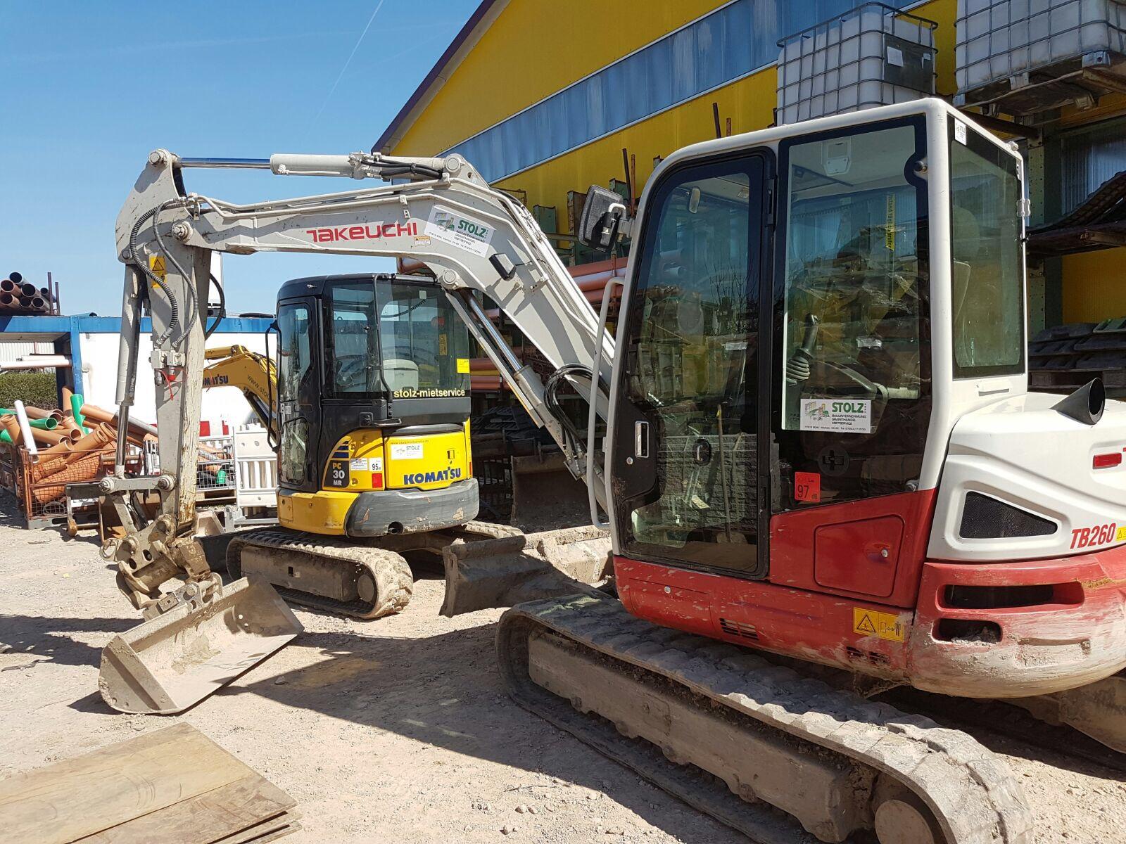 Kleinbagger - Stolz GmbH Bauunternehmung - Mietservice